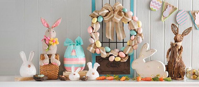 decorazioni pasquali ghirlande uova coniglietti