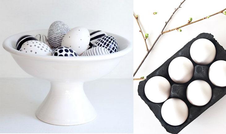 decorazioni pasquali uova centrotavola stile nortdico