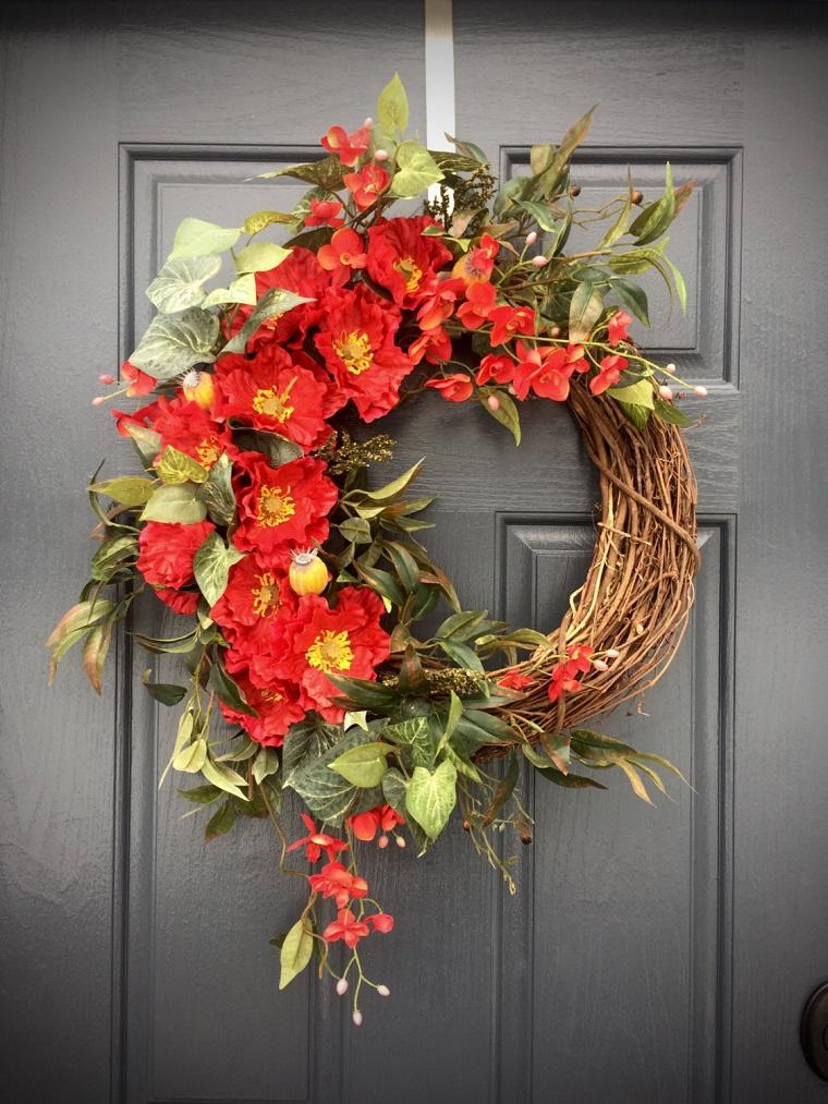 decorazioni primavera ghirlanda porta