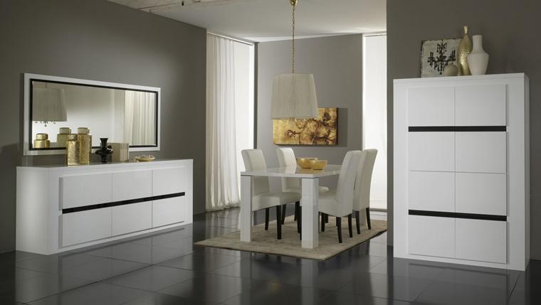 design bianco lucido arredamento moderno