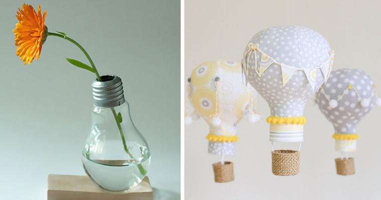 fai da te idea riutilizzare lampadina