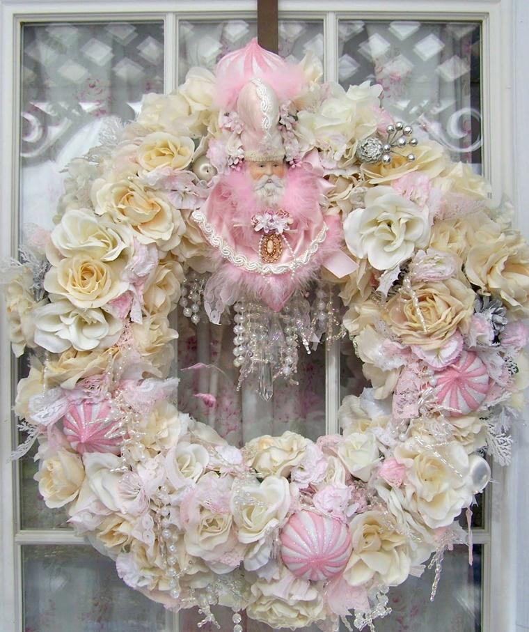 festone esterno motivi floreali tante perle