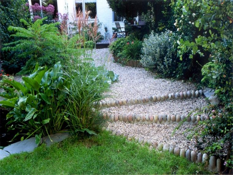 ghiaia da giardino idea gradini