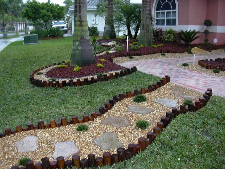ghiaia da giardino vialetto legno