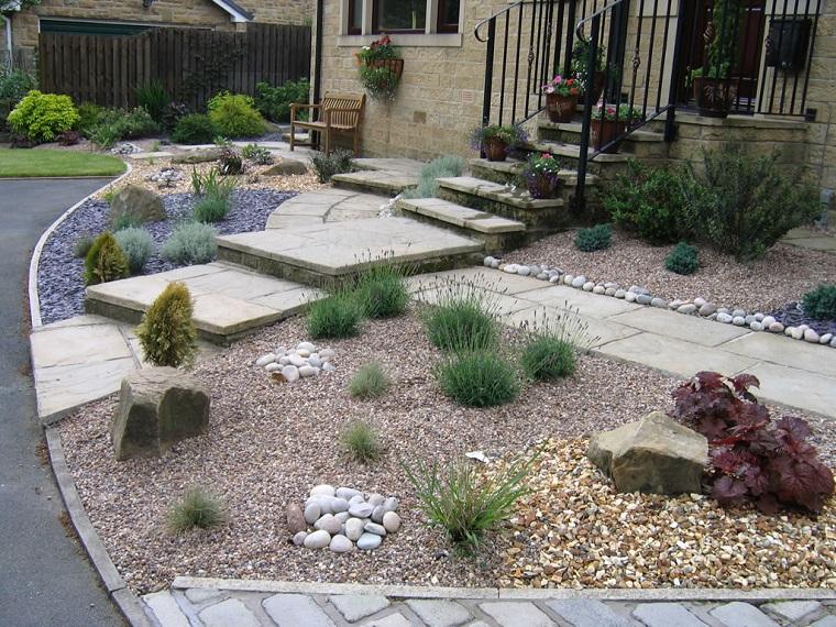 ghiaia giardino idea ingresso