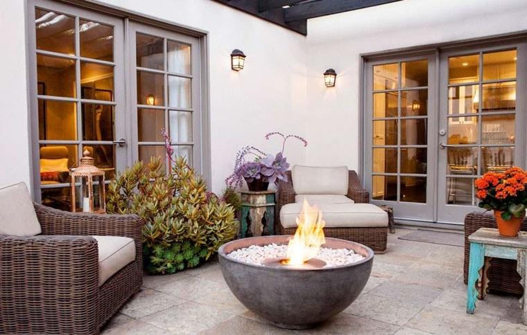 Giardino d 39 inverno consigli e idee per l 39 arredamento - Caminetto per esterno ...