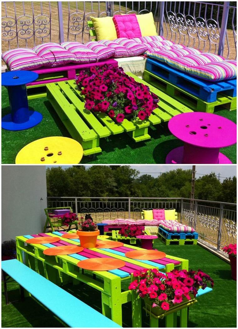 giardino fai da te mobili pallet riciclo