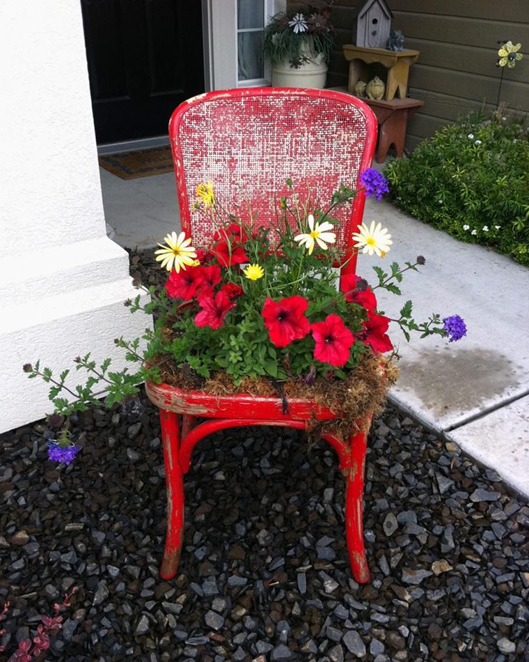 giardino fai da te sedia vintage