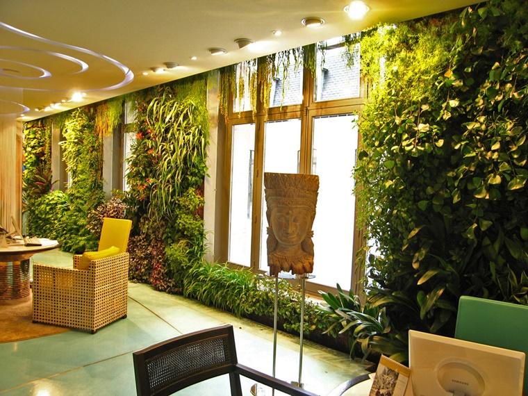 giardino verticale ideale purificare ambienti domestici