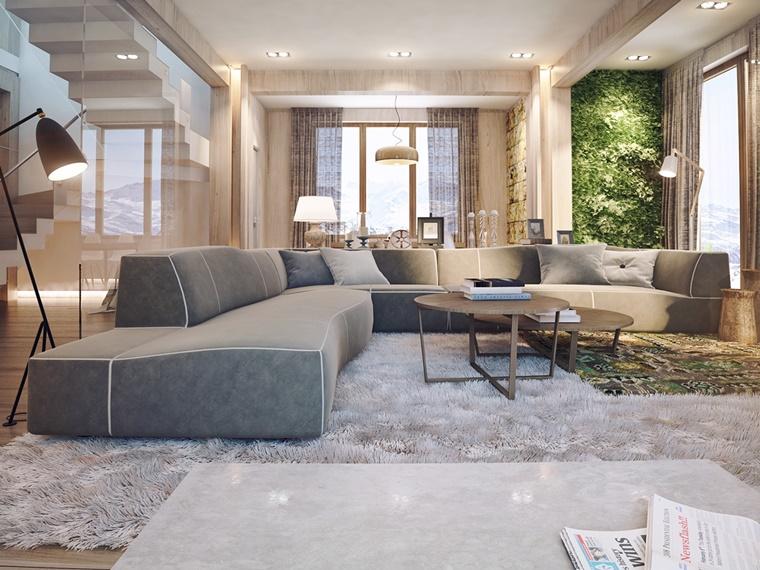 giardino verticale interior design moderno casa