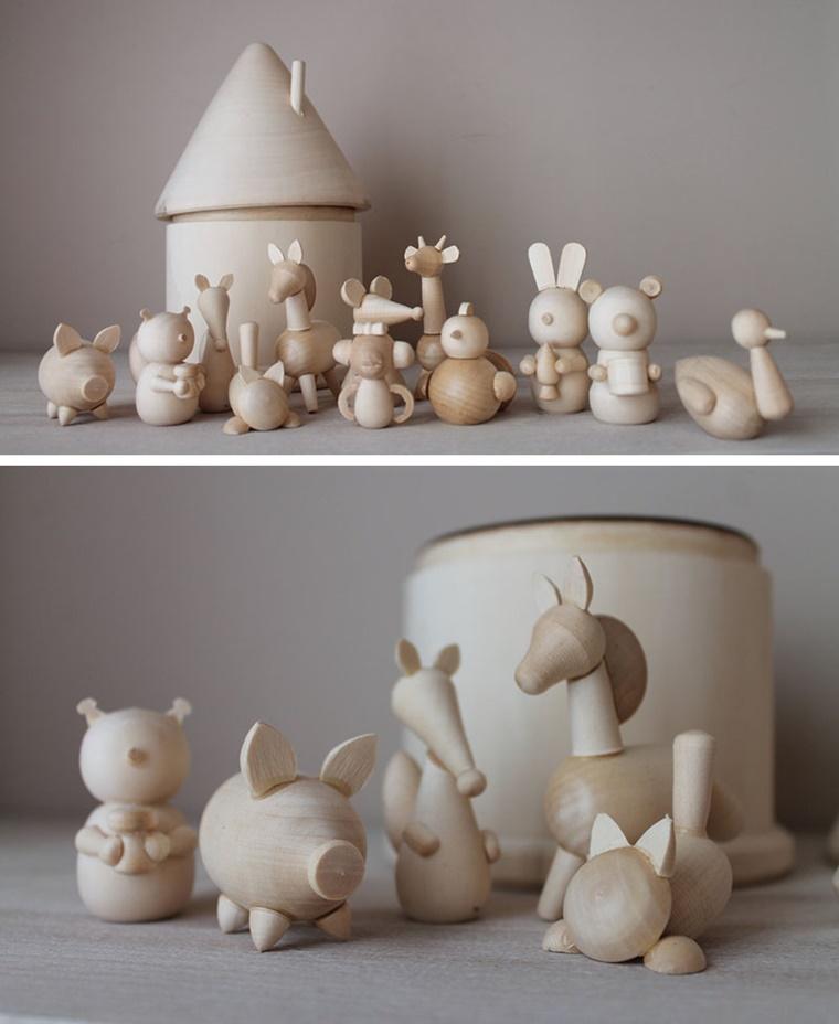 giocattoli legno moderni educativi animaletti