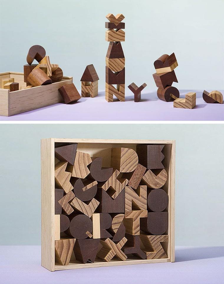 giocattoli legno moderni educativi lettere