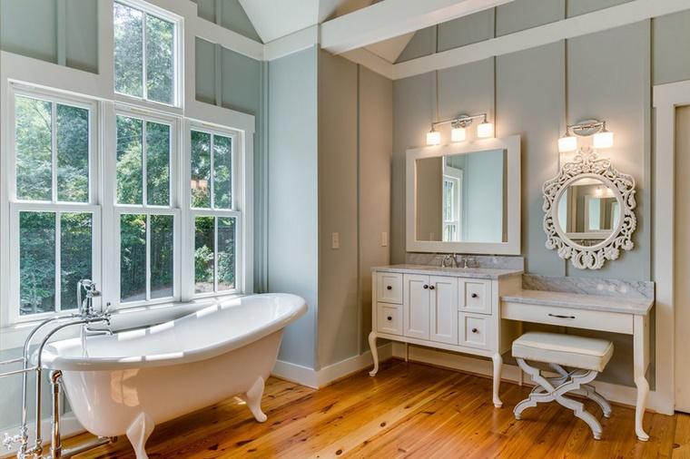 Bagno Con Vasca E Doccia Rivestito Stile Retro Interior Design : Arredamento bagno idee per la camera da letto archzine