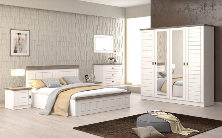 idea arredamento colore bianco mobili effetto legno