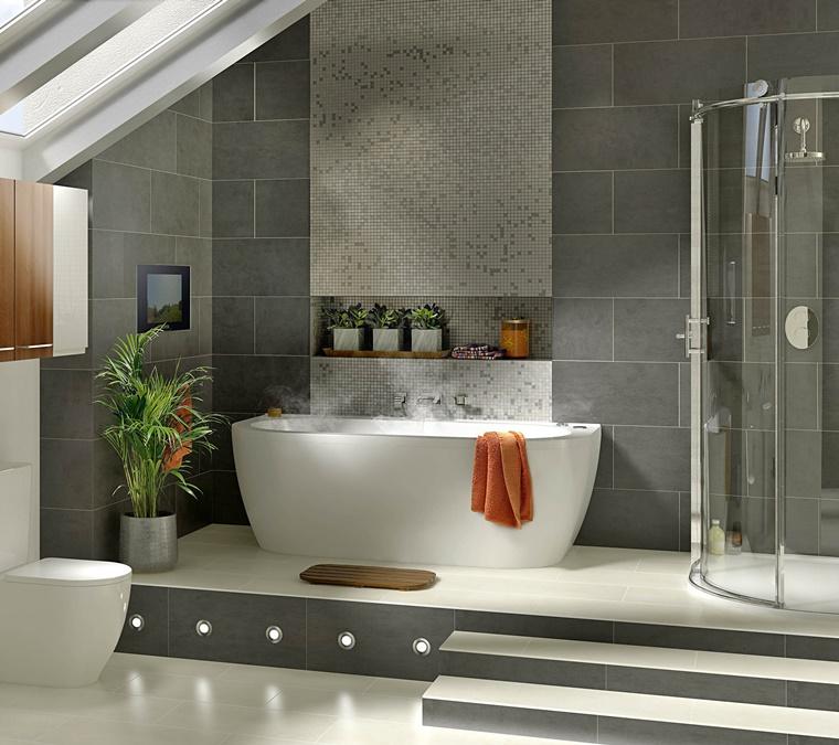 Arredamento bagno idee per la camera da letto - Rialzo per bagno ...