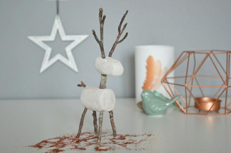idea interessante decorazione natalizia bimbi cervo