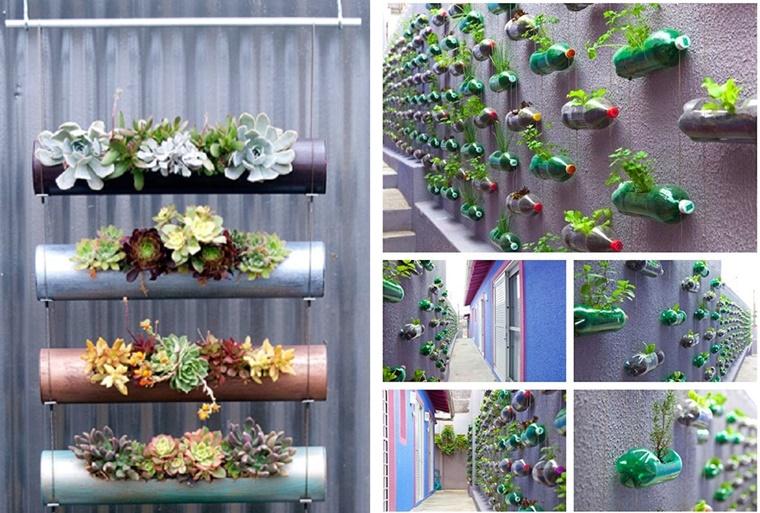 Giardino verticale varie idee per l 39 esterno e l 39 interno - Piante per giardino verticale ...
