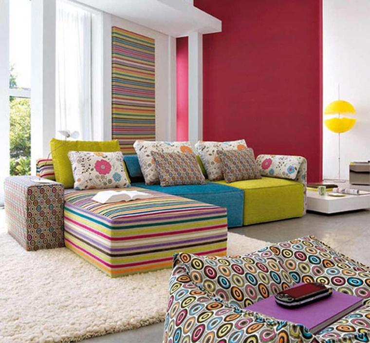 idee creative decorare soggiorno modo colorato