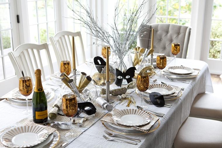 idee creative decorare tavolo capodanno