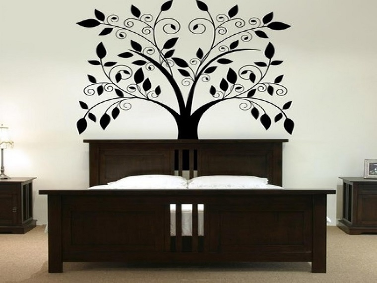 idee interior design disegno albero stilizzato