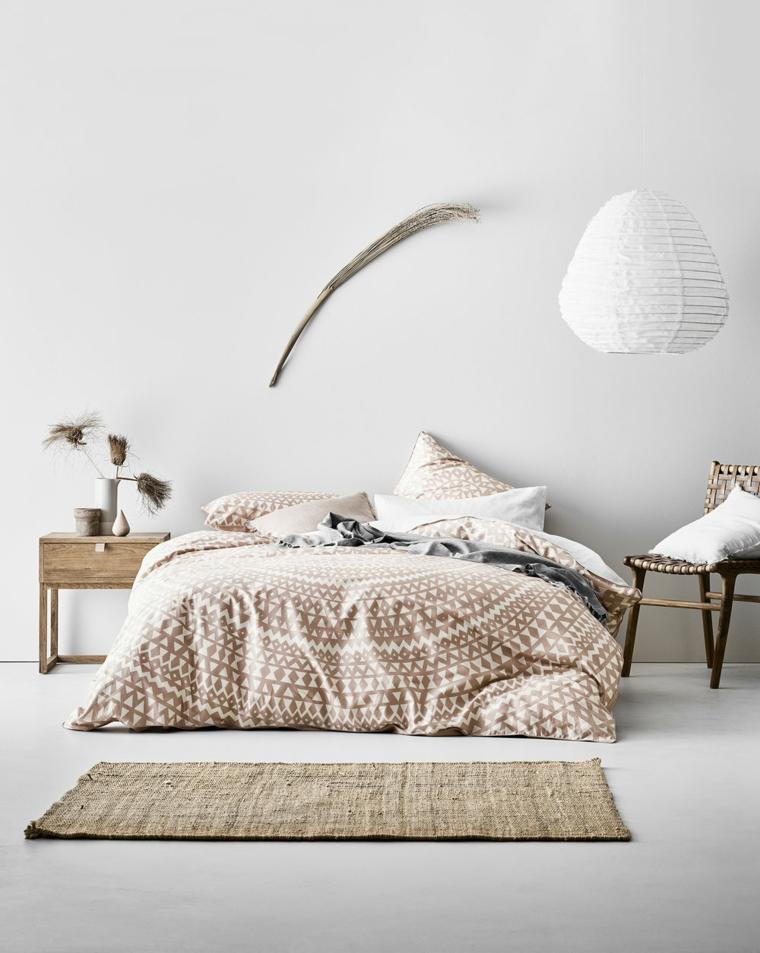 Decorazioni parete bianca, stanze da letto moderne per ragazze, tappeto duro colore beige