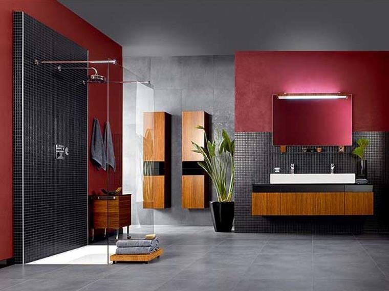 illuminazione bagno moderno pareti lillà