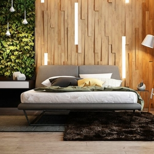 Illuminazione travi a vista idee originali for Illuminazione camera letto