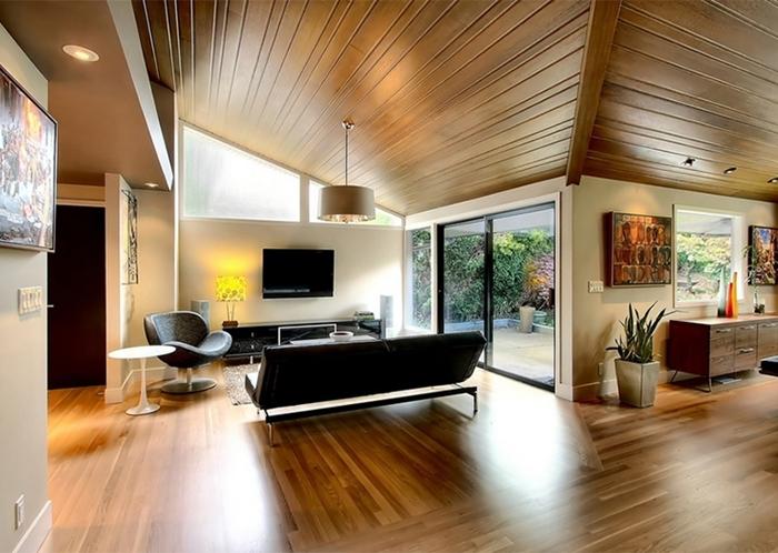 Plafoniere Per Sottotetto : Illuminazione tetto in legno idee innovative e di stile