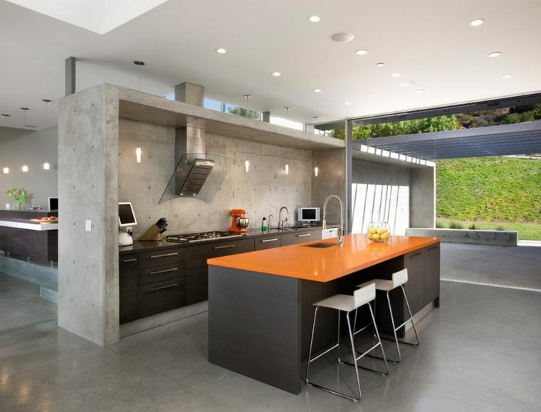 isola design moderno arancione colori accesi