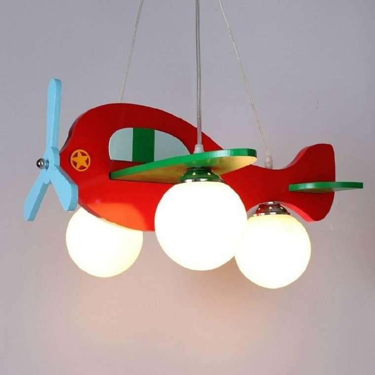lampadario particolare forma elicottero colorato