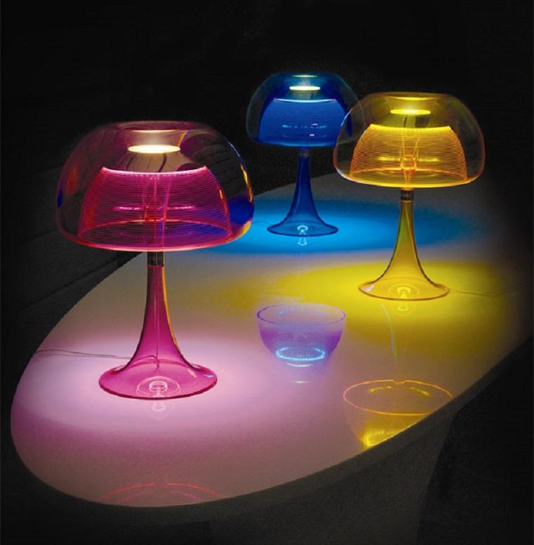 lampade colorate vivaci speciali particolari