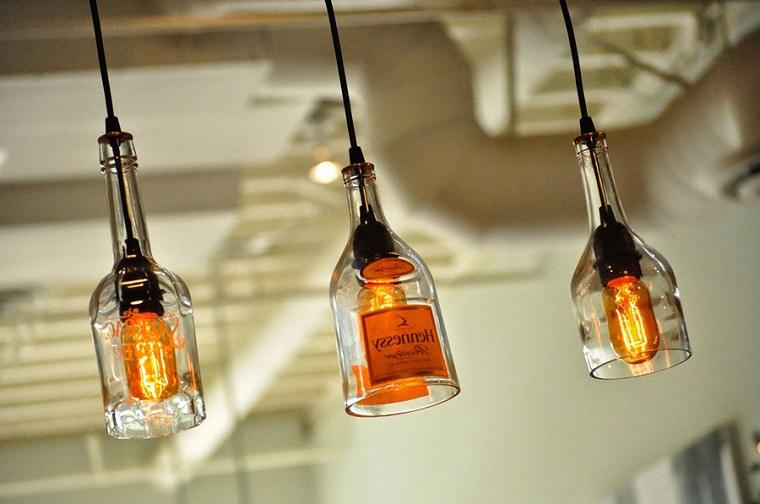 lampade di design moderno particolare bottiglie vetro