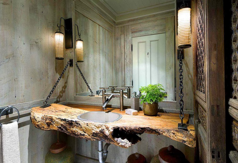 Bagno rustico con ispirazione moderna - Archzine.it