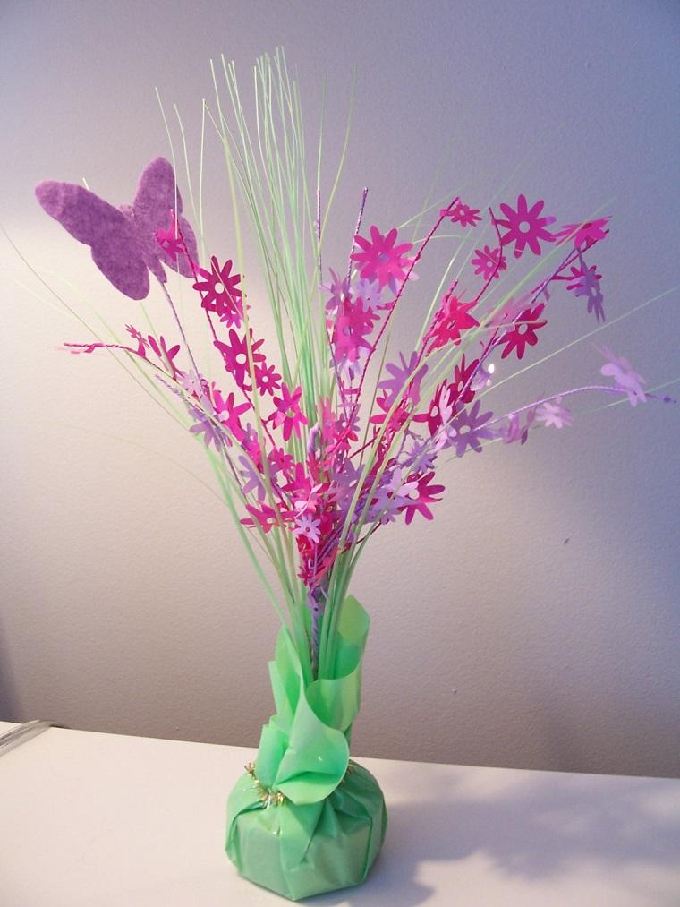lavoretti creativi primavera fiori farfalle