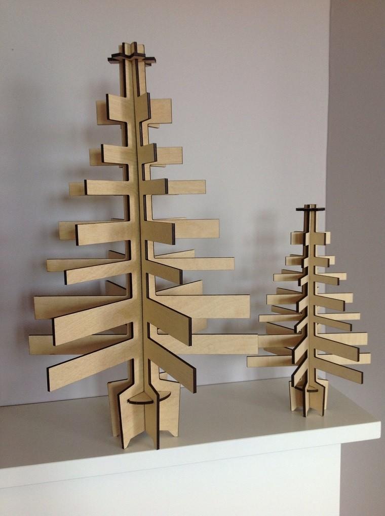 lavoretti di natale legno stile minimalista