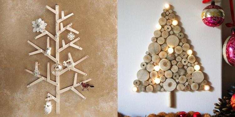 lavoretti natalizi rametti dischi legno