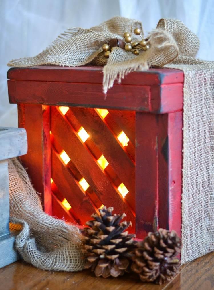 lavoretti natalizi reallizzati legno verniciati mano casa