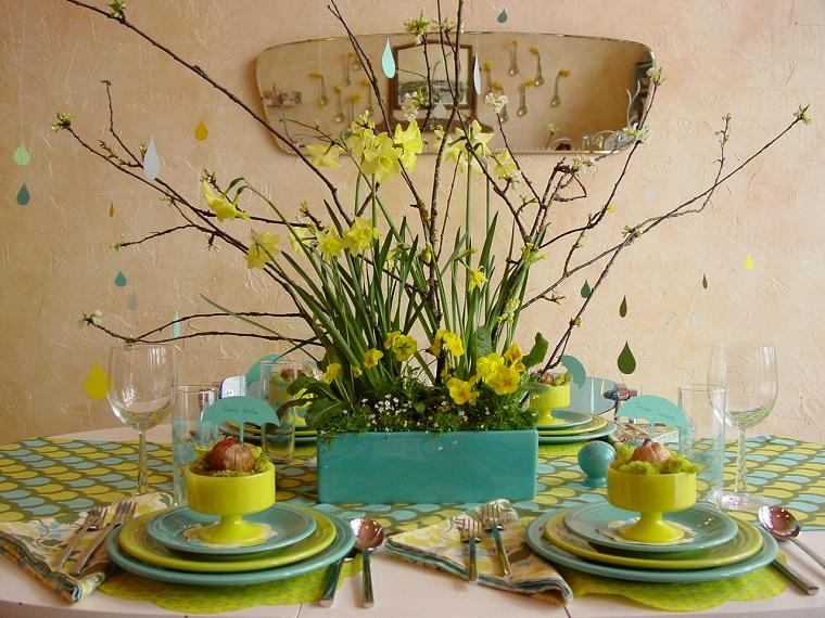 lavoretti primavera centrotavola fiori stagione