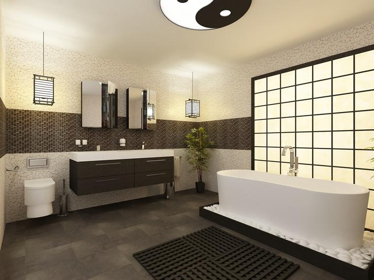 mobile bagno moderno elementi zen giapponese