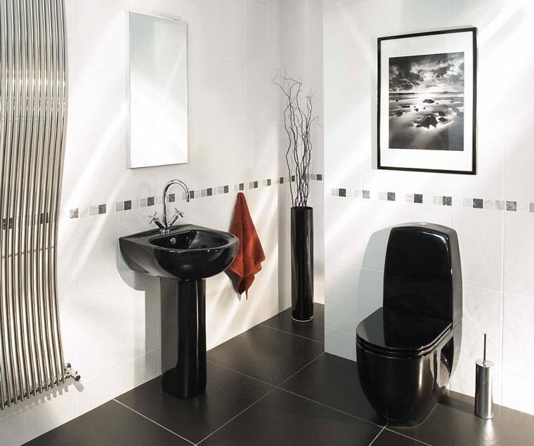 mobile da bagno piccolo sanitari neri