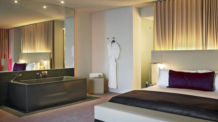 Bagno Aperto In Camera : Arredamento bagno idee per la camera da letto archzine