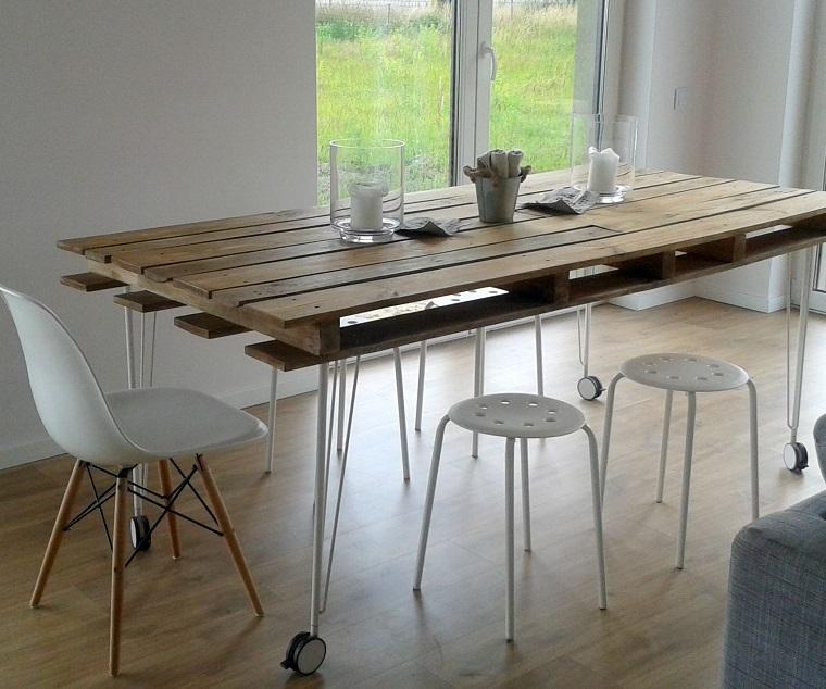 mobili con pallet tavolo soggiorno