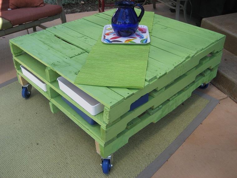 mobili-con-pallet-verde-ruote