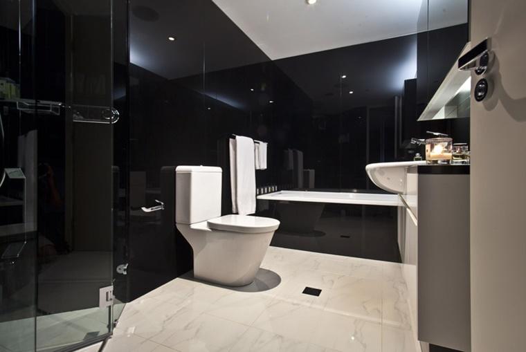 mobili da bagno bianco nero