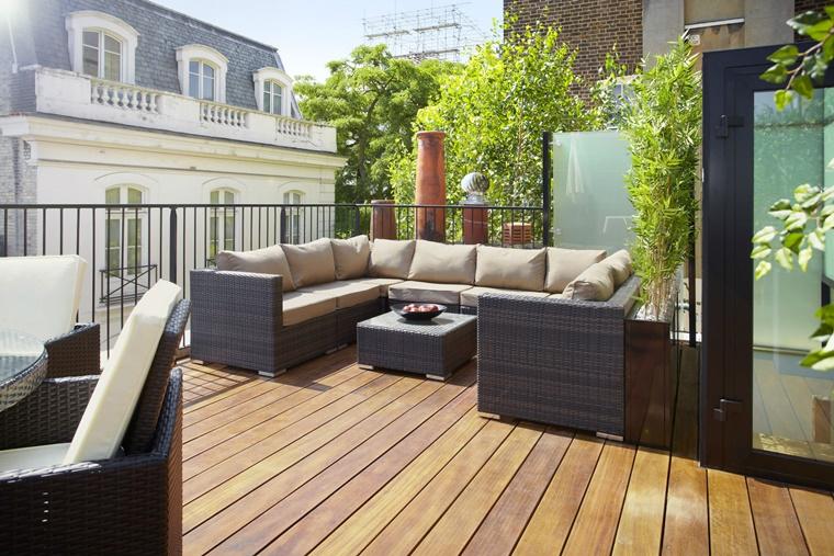 Arredare terrazzo idee di arredamento per un angolo for Mobili da terrazzo in legno
