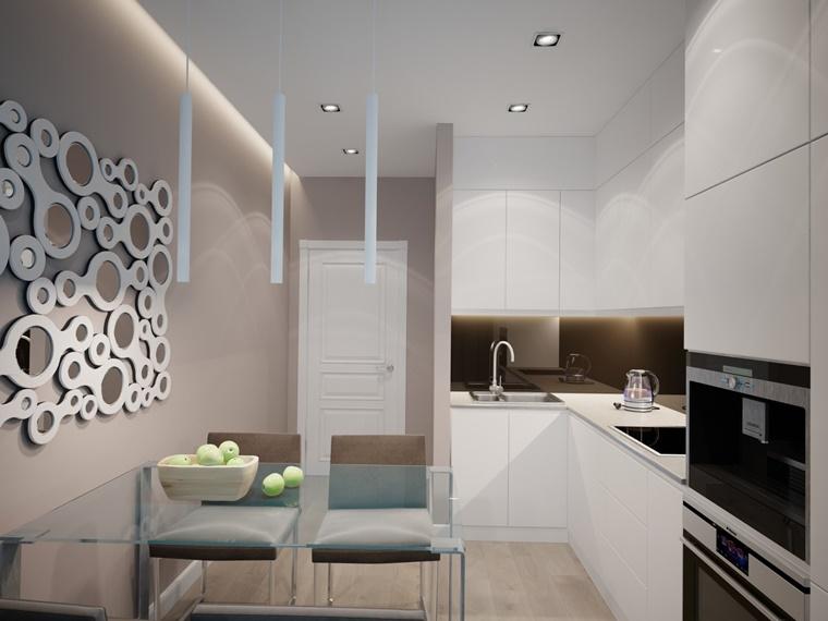 Cucine bianche abbinamento perfetto con lo stile moderno for Parete decorata moderna