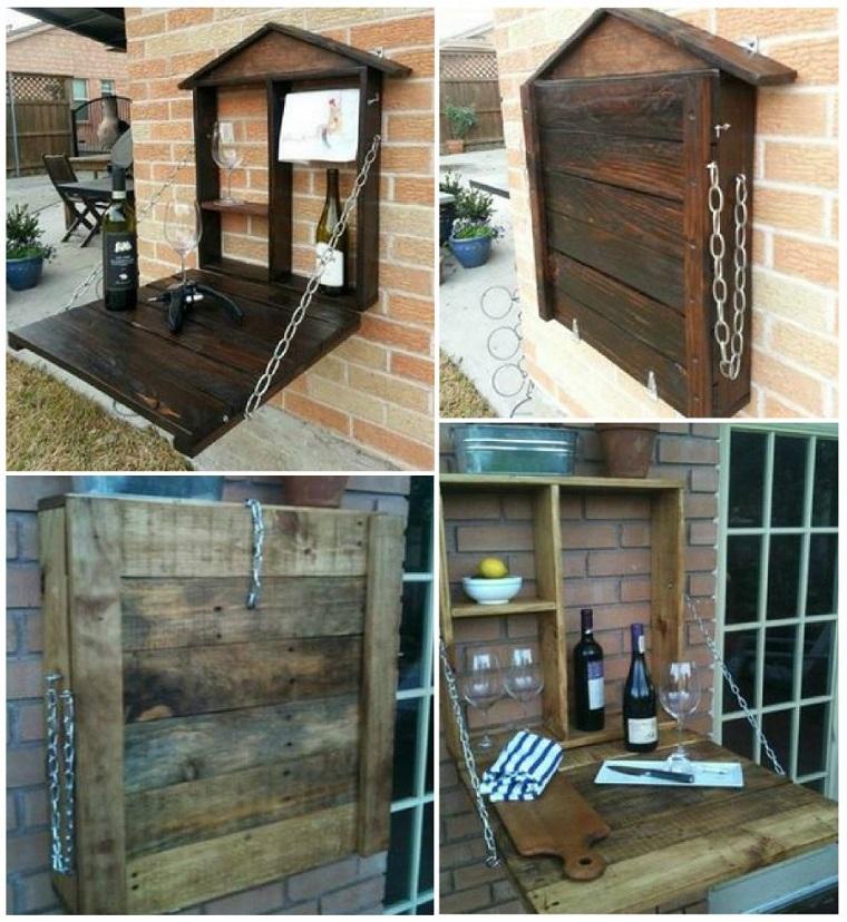 mobili pallet originale wine bar