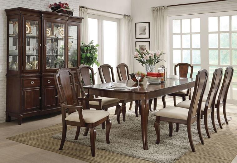 mobili sala da pranzo legno scuro