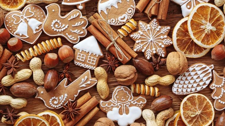 noccioline nocciuola noci biscotti cannella allestire tavola natalizia