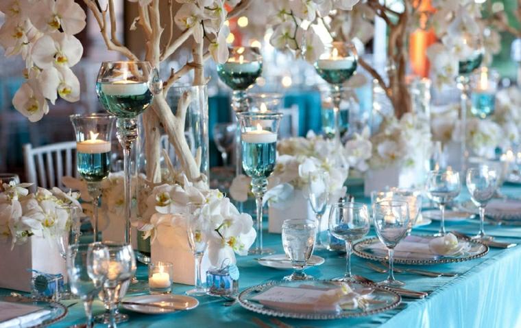 nozze elegnati dettagli blu idea originale